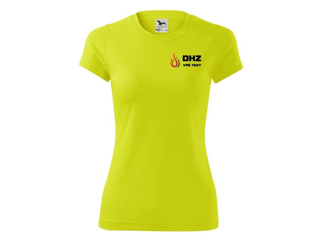 140 Pracovné tričko DHZ - neon yellow
