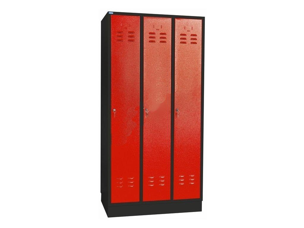 Kovová Šatníková skriňa 3 dverová GS3