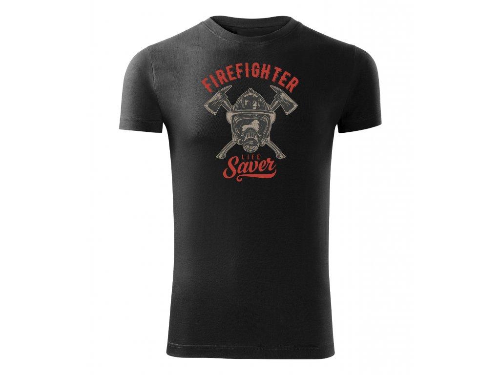 firefighter life saver čierne