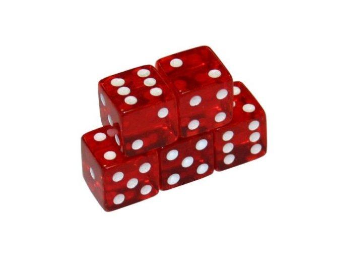 Hracia kocka červená 18 mm