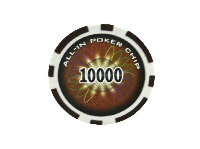 Poker chip ALL IN hodnota 10000