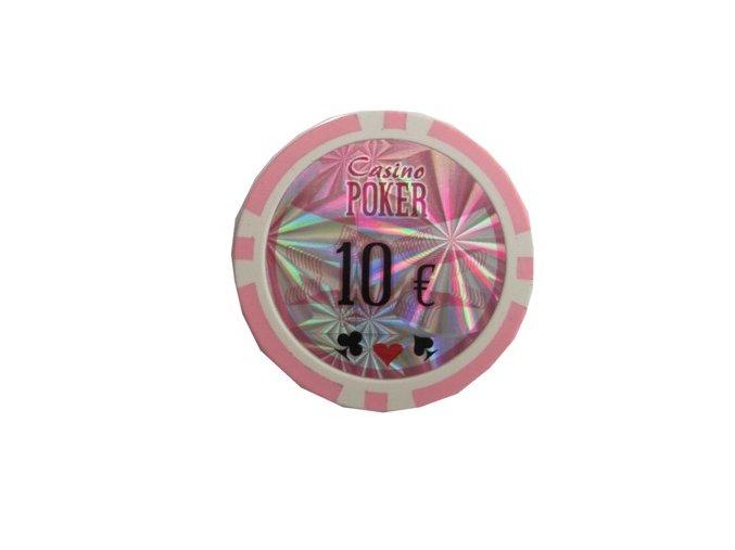 Poker chip cash game hodnota 10 €