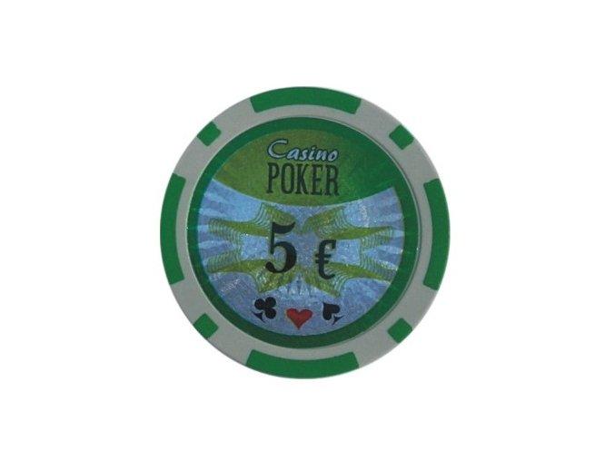 Poker chip cash game hodnota 5 €