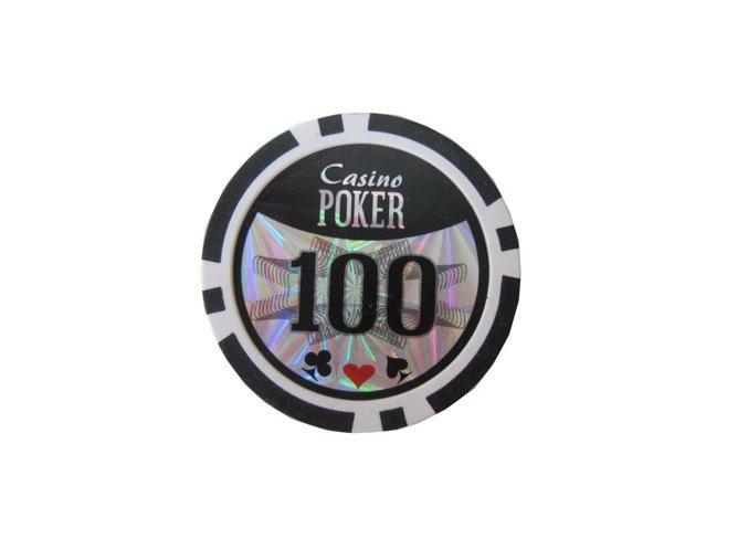Poker chip Casino POKER hodnota 100