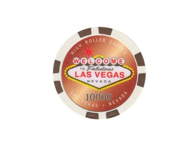 Poker chip HIGHROLLER hodnota 10 000