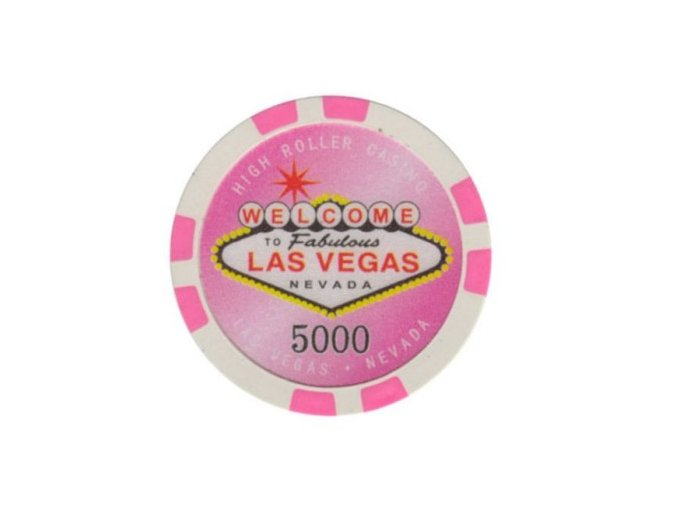 Poker chip HIGHROLLER hodnota 5000
