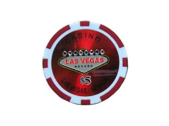Poker chip LAS VEGAS hodnota 5