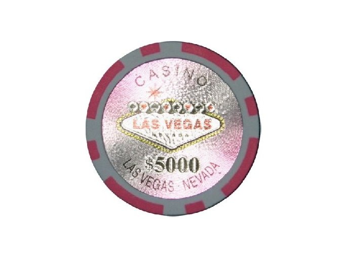 Poker chip LAS VEGAS hodnota 5 000
