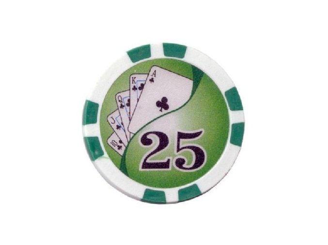 Poker chip Royal Flush hodnota 25
