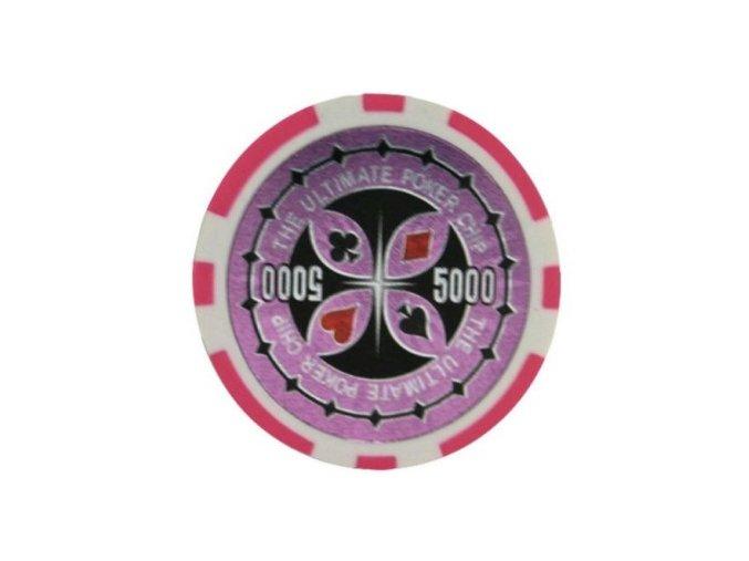 Poker chip ULTIMATE hodnota 5 000