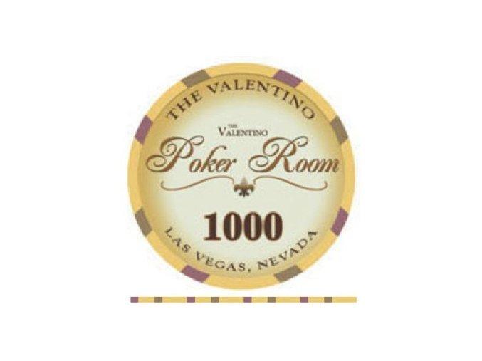 Poker chip VALENTINO hodnota 1 000