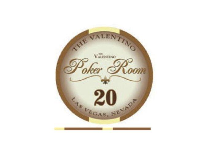 Poker chip VALENTINO hodnota 20