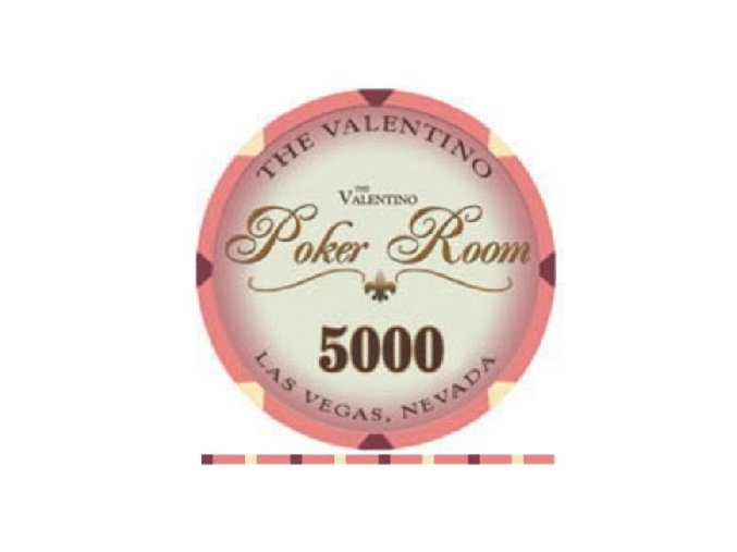 Poker chip VALENTINO hodnota 5 000