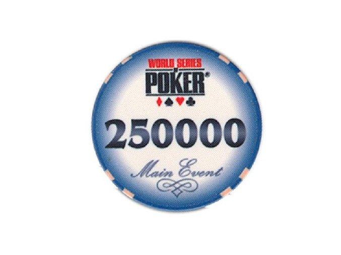Poker chip WSOP hodnota 250 000