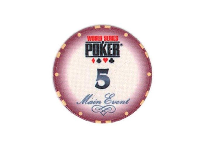 Poker chip WSOP hodnota 5