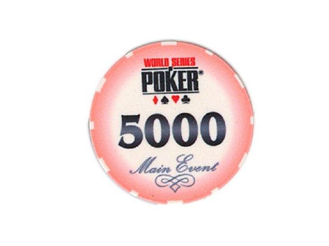 Poker chip WSOP hodnota 5 000