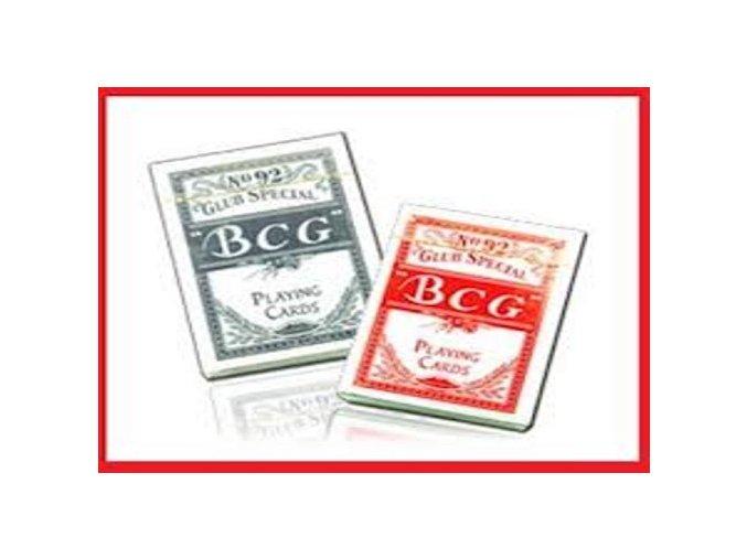 Pokrové hracie karty BCG papierové červené