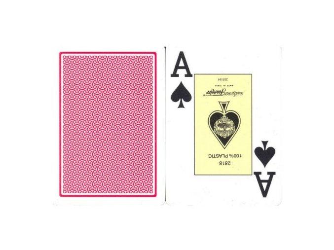 Pokrové hracie karty Fournier červené veľký index