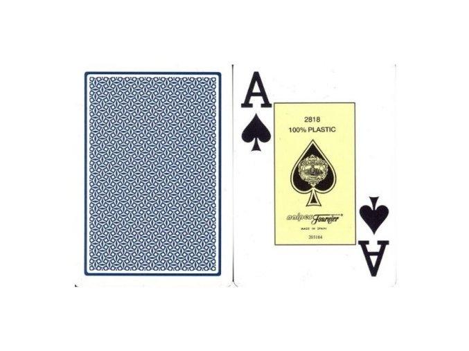 Pokrové hracie karty Fournier modré veľký index