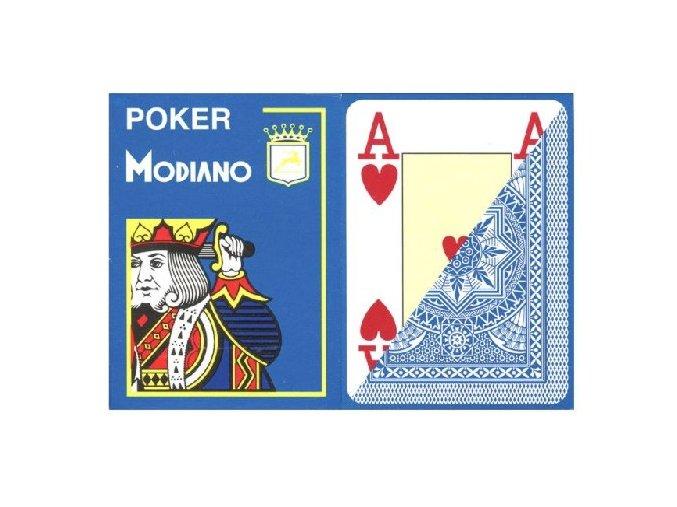 Pokrové hracie karty Modiano svetlomodré veľký index