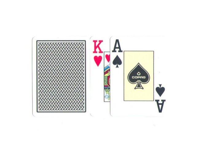 Pokrové hracie karty Texas Hold´em Copag čierno zlatá  veľký index