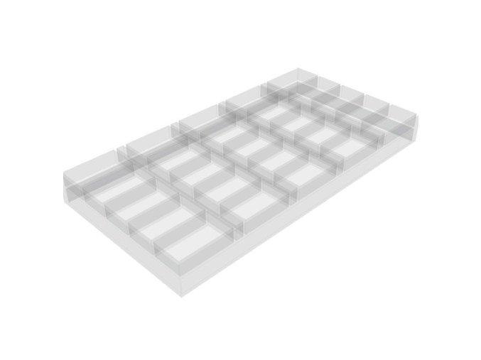 Pokrový chiptray plastový na 500 žetónov
