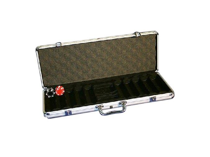 Pokrový kufrík Alu na 500 chips