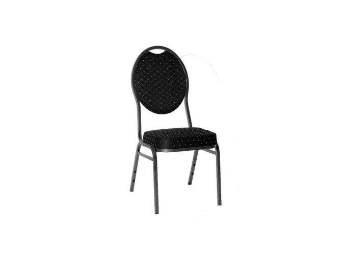 Stolička k pokrovému stolu BRILLANT čierna