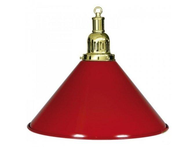 Biliardová lampa červená 1 tienidlo komplet