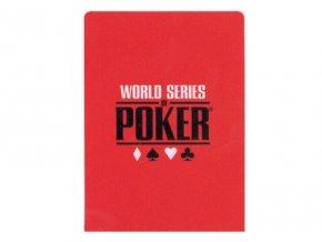 100% plastová krycia karta WSOP červená