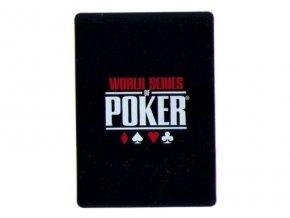 100% plastová krycia karta WSOP čierna
