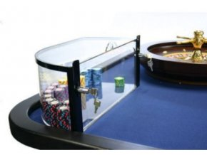 Akrylový box na ruletové žetóny ľavý