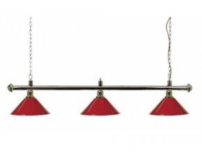 Lampa DE LUXE 3 tienidlá nad pokrový stôl červená