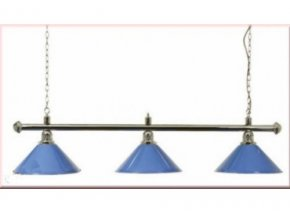 Lampa DE LUXE 3 tienidlá nad pokrový stôl modrá