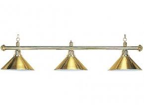Lampa DE LUXE 3 tienidlá nad pokrový stôl zlatá
