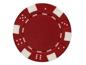 Poker chip bez hodnoty DICE červený