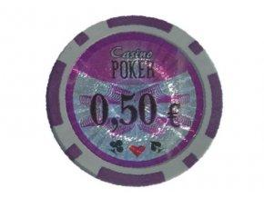 Poker chip cash game hodnota 0,50 €