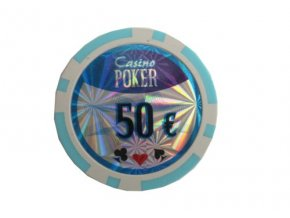 Poker chip cash game hodnota 50 €