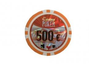Poker chip cash game hodnota 500 €