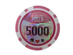 Poker chip Casino POKER hodnota 5 000