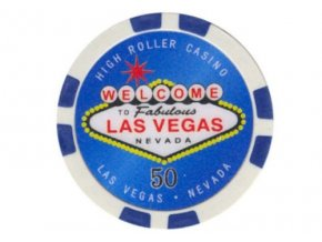 Poker chip HIGHROLLER hodnota 50