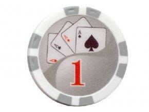 Poker chip Royal Flush hodnota 1