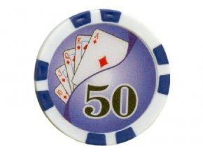 Poker chip Royal Flush hodnota 50