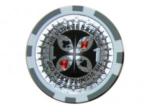 Poker chip ULTIMATE hodnota 1