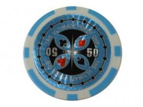 Poker chip ULTIMATE hodnota 50