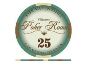 Poker chip VALENTINO hodnota 25