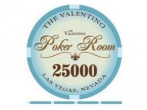 Poker chip VALENTINO hodnota 25 000