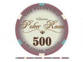 Poker chip VALENTINO hodnota 500