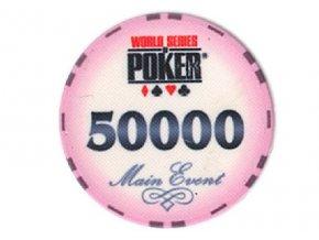 Poker chip WSOP hodnota 50 000
