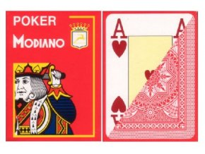 Pokrové hracie karty Modiano červené veľký index